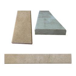 """SCABOS TILE - Beige Marble Both Sides Polished Saddle Threshold 4""""x36"""" - Beige Marble Both Sides Polished Saddle Threshold 4""""x36"""""""
