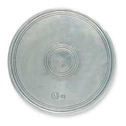 Match Pewter - Large Round Trivet by Match Pewter - Handmade by artisans in northern Italy, and each piece of Match pewter bears a stamped symbol from the region in which it was made.