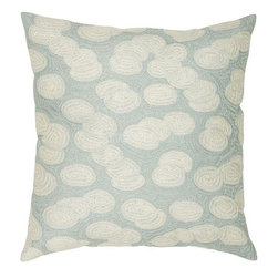 Rizzy Home - Spa and Off White Decorative Accent Pillows (Set of 2) - T03510 - Set of 2 Pillows.