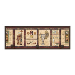 illumalite Designs - Old World Golf Plaque w Pegs in Brown - Includes hanging hardware. Solid wood base. Made in USA. 20.5 in. W x 4 in. D x 7 in. H (1.94 lbs.)
