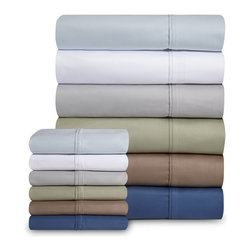 Grand Patrician - Grand Patrician Luxury Cotton Rich 1000 Thread Count Sheet Sets - Bring rich color to your bedroom with these luxurious sheets,graced with a silky soft 1000 thread count. Crafted with a smooth cotton-polyester blend,these machine washable easy-care sheets are available in several colors.