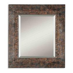 "www.essentialsinside.com: jackson metal framed wall mirror - Jackson Metal Framed Wall Mirror (30""H x 34""W) by Uttermost, available at www.essentialsinside.com"