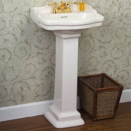 If youre looking for a small scale pedestal sink for a tiny bathroom ...