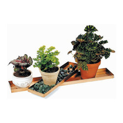 "Achla - Two Copper Plant Trays - Set of 2 - Many people enjoy the aesthetic appeal of a planter tray, and while this particular copper tray is a stunning example of visual prowess, some people are unaware of all the other benefits of having a planter tray.  For example, you can keep a variety of plants orderly and neat in a specific location.  This set of two polished copper planter trays makes a stunning focal point for your table or shelf.  Display your favorite potted plants, crystals, rocks and gemstones on two sizes of gorgeously polished copper tray.  Accessories not included. * This set of two polished copper planter trays makes a stunning focal point for your table or shelf. Display your favorite potted plants, crystals, rocks and gemstones on two sizes of gorgeously polished copper tray. Doubles as a bedside tray, or a fun place to collect your mail or other to do items with style. Accessories not included. Small: 20"" L x 5"" W in.. Large: 29"" L x 5"" W in."