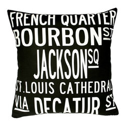 "Uptown Artworks - New Orleans Pillow - Features: -Material: Natural cotton / linen. -We recommend spot-cleaning or wash in cool water with phosphate-free detergent. -Zipper closure, plush feather and down insert. -Made in the United States. -Eco-friendly. -Overall dimensions: 20"" H x 20"" W, 2 lbs."