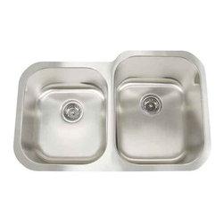 Artisan Manufacturing - Artisan 18-Gauge 31 x 20 x 40/60 Sink - MH-3221D88R Artisan Manufacturing Manhattan Double Bowl Undermount 18 Gauge Kitchen Sink