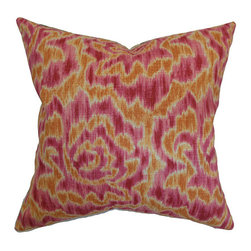 The Pillow Collection - Laserena Orange 18 x 18 Coastal Throw Pillow - - Pillows have hidden zippers for easy removal and cleaning  - Reversible pillow with same fabric on both sides  - Comes standard with a 5/95 feather blend pillow insert  - All four sides have a clean knife-edge finish  - Pillow insert is 19 x 19 to ensure a tight and generous fit  - Cover and insert made in the USA  - Spot clean and Dry cleaning recommended  - Fill Material: 5/95 down feather blend The Pillow Collection - P18-D-21049-MANGO-L55R45