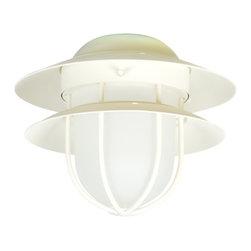 Craftmade - Craftmade Tiered Bulkhead Outdoor Ceiling Fan Light Kit X-WA-LFC76KLO - 1 Light Outdoor Tiered Bulkhead Kit with CFL Bulb Included - AW with Frost Glass