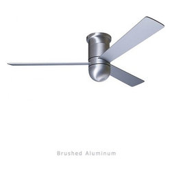 """Modern Fan - Modern Fan Cirrus Hugger ceiling fan - The Cirrus Hugger ceiling fan was designed by Ron Rezek for The Modern Fan Co. At 13 inches, the Cirrus Hugger is designed specifically for low-ceiling applications. While compact in scale, this hugger is an exceptionally powerful air mover. The same direct and ambient lighting options are available as with the Cirrus.  Product Details:   The Cirrus Hugger ceiling fan was designed by Ron Rezek for The Modern Fan Co. At 13 inches, the Cirrus Hugger is designed specifically for low-ceiling applications. While compact in scale, this hugger is an exceptionally powerful air mover. The same direct and ambient lighting options are available as with the Cirrus.                                     Manufacturer:                                      The Modern Fan Company                                                     Designer:                                     Ron Rezek                                                     Made in:                                     USA                                                     Dimensions:                                      Height: 17"""" (43.2  cm) X Blade Span: 36"""" (91.4 cm), 42"""" (106.7 cm) or 52"""" (132.1 cm)                                                     Light Bulb:                                     1 X 75W Halogen or 1 X 26W Energy Saving CFL or 1 X 75W Halogen Spot"""