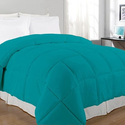 None - Bright Solid Color Microfiber Down Alternative Comforter - This polyester comforter comes in a variety of colors to accent any room. This solid colored bedspread is as comfortable as it is vibrant.