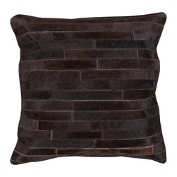 """Kathy Kuo Home - Ewing Rustic Lodge Tile Hair on Hide Pillow - 20"""" x 20"""" - * 20 inches high x 20 inches wide"""
