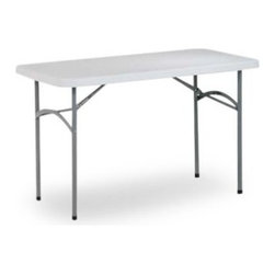 Office Star Products 4 ft. Rectangle Multi Purpose Folding Table - White - This banquet table offers convenience at your family or professional social gatherings. Lightweight yet resilient, the Multi Purpose Folding Table combines durable functionality and good looks. Make your party, banquet or picnic a success with the 4 ft. Multi Purpose Folding Table.