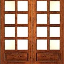 """Rustic-8-lite-P/B French Solid Wood 1 Panel IG Glass Double Door - SKU#Rustic-8-lite-P/B-Ext-2BrandAAWDoor TypeFrenchManufacturer CollectionRustic French DoorsDoor ModelDoor MaterialWoodWoodgrainTropical HardwoodVeneerPrice960Door Size Options2(24"""") x 80"""" (4'-0"""" x 6'-8"""")  $02(30"""") x 80"""" (5'-0"""" x 6'-8"""")  +$202(32"""") x 80"""" (5'-4"""" x 6'-8"""")  +$202(36"""") x 80"""" (6'-0"""" x 6'-8"""")  +$20Core TypeSolidDoor StyleDoor Lite Style3/4 Lite , 8 LiteDoor Panel Style1 Panel , Chamfer StickingHome Style MatchingMediterranean , LogDoor ConstructionEngineered Stiles and RailsPrehanging OptionsPrehung , SlabPrehung ConfigurationDouble DoorDoor Thickness (Inches)1.75Glass Thickness (Inches)1/2Glass TypeDouble GlazedGlass CamingGlass FeaturesInsulated , Tempered , low-E , Beveled , DualGlass StyleClear , White LaminatedGlass TextureClear , White LaminatedGlass ObscurityNo Obscurity , High ObscurityDoor FeaturesDoor ApprovalsFSCDoor FinishesDoor AccessoriesWeight (lbs)680Crating Size25"""" (w)x 108"""" (l)x 52"""" (h)Lead TimeSlab Doors: 7 daysPrehung:14 daysPrefinished, PreHung:21 daysWarranty1 Year Limited Manufacturer WarrantyHere you can download warranty PDF document."""