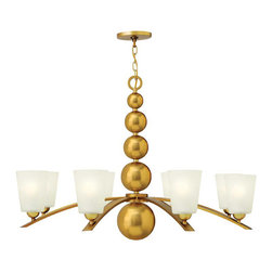Hinkley Lighting - Hinkley Lighting 3448VS Zelda Vintage Brass 8 Light Chandelier - Hinkley Lighting 3448VS Zelda Vintage Brass 8 Light Chandelier