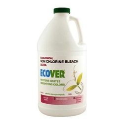 Ecover Liquid Non-chlorine Bleach - 64 Oz - Ecover Ecological Laundry Non Chlorine Bleach Liquid keeps whites naturally white and is safe to use on colored clothing too. The all natural formula enhances washing power and deodorizes while removing tough stains. It is made from plant derived ingredients and Hydrogen Peroxde and is completely biodegradable and non-toxic to the home or the environment.