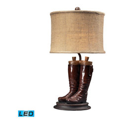 Dimond Lighting - Dimond Lighting Wood River Riding Boots Accent Lamp - LED Offering Up To 800 Lum - Riding Boots Accent Lamp - LED Offering Up To 800 Lumens belongs to Wood River Collection by Dimond Lighting Lamp (1)