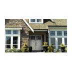 Smooth Skin Fiberglass Door Series - 3/0 x 6/8 Smooth Skin Series: Direct Glazed Craftsman w/ 6 Lite SDL bars ---