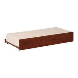 Canwood - Canwood Trundle Bed in Cherry - Canwood - Trundles - 3144 -Create the perfect sleep over environment for your tween, or help them stay organized and store bulkier under bed items neatly, by adding the versatile Canwood Trundle Bed. Taking its design inspiration from the Canadian outdoors, this solid constructed Trundle Bed will fit flawlessly with your other Canwood decor.