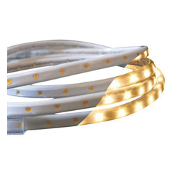 American Lighting - LED Rope Light Kit - 13.2-Feet Long - 120-TL60-13.2-WW - Low profile, flexible lighting that combines the ease of tape light with the benefits of rope light for an extremely bright, easy to work with linear lighting product. Includes a 5-foot cord and mounting hardware. Dimmable with most standard incandescent dimmers. UL listed. Wet location rated.