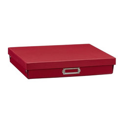 Boys' Cameron Creativity Storage, Red Flat Box - Sometimes adding more color and dimension to your space is as easy as adding some simple accessories to your bookshelves. These storage boxes will help get you a bit more organized and bring in the color you're craving.