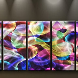 Matthew's Art Gallery - Metal Wall Art Abstract Modern Handmade Colorful Fantasy - Name: Colorful Fantasy