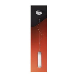 Zaneen - Olly 1-Light Suspension Pendant in White - Requires one 18 watt compact fluorescent 2G11 base T4 bulb