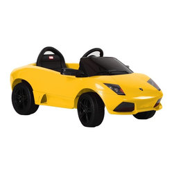 Vroom Rider - Vroom Rider Lamborghini Murcielago LP 640-4 Rastar Battery Powered Riding Toy - - Shop for Tricycles and Riding Toys from Hayneedle.com! Your kid will cruise the block in style when riding the Vroom Rider Lamborghini Murcielago LP 640-4 Rastar Battery Powered Riding Toy. This luxury ride-on vehicle is license-designed to look just like the real thing and will make his wish of riding like a grown-up come true. It comes standard with authentic badges front LED lights and turn signals MP3 input jack engine sounds pretend seat belt and wireless remote control which lets parents control the car when the child is learning to ride. Once up to speed the child can easily control the car using the foot pedal and the steering wheel. Releasing the pedal allows car to stop quickly. And with a rechargeable 6V battery included your child will be able to keep going for up to 1.5 hours at a time on one full charge. Available in a selection of vibrant colors. For ages 3 to 8 years. Weight capacity: 55 lbs. About Vroom RiderConsidering the safety and well being of a child as being of paramount importance Vroom Rider a Merske LLC company enforces very strict safety and quality tests to make their toys absolutely safe to use. They believe that entertainment is crucial for children's development and achievement of new skills which is why they hire only specialists within the industry to research and design products that are safe useful durable and affordable. By using their own products in their homes as well as listening to their customers' feedback Vroom Rider is able to offer products that consistently meet their customer's expectations.