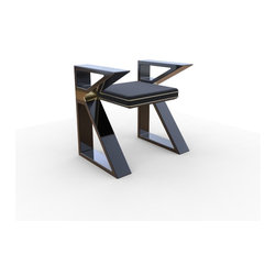 """K Chair - """"KChair"""" represents the height of modernist design in the digital age.  It is designed by renowned San Francisco artist and writer, Max Eternity, and fabricated in Chicago by Hulse Build + Design."""