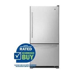 Maytag 18.5 cu ft Bottom Freezer Refrigerator (Stainless Steel) ENERGY - Gallon door bins for more storage capacity in the door
