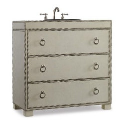 Cole And Company Med Gray Vanity 42