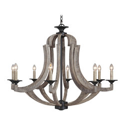 Jeremiah Lighting - Jeremiah Lighting-35128-WP-Winton - Eight Light Chandelier - Wattage: 60