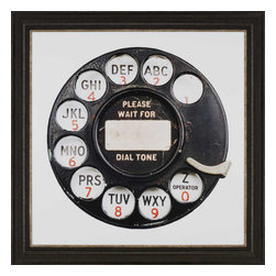 Paragon - Rotary Phone - Framed Art - Each product is custom made upon order so there might be small variations from the picture displayed. No two pieces are exactly alike.