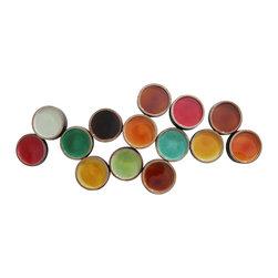 Moe's Home Collection - Moe's Home Colorful Metal Circles - Metal wall decor