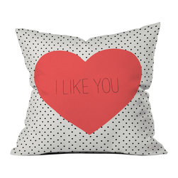 Modern Woven Polyester Throw Pillow - Cutesy up your bedspread, couch, or lounge chair with this delightful, polka-dotted throw pillow. This pillow features a double-sided print and concealed zipper, and is custom made for every order. Gift it to your favorite person to mark a special occasion to remember.