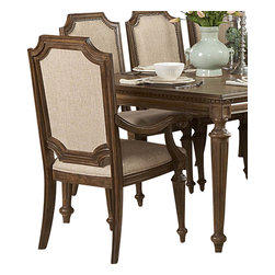 Homelegance - Homelegance Eastover Arm Chair (Set of 2) - The architectural design elements of the Eastover collection such as dental crown moldings, scroll and leaf carvings and turned bun feet present a traditional look while the lightly distressed driftwood finish adds a casual quality to what would otherwise be a more formal design. Eastover, a new twist on traditional designed for today's casual lifestyle.