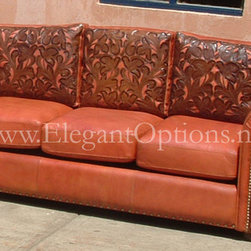 Custom Tooled Leather Sofas -