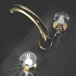 Macral Design faucets.Three holes faucet with swarovski crystal. - Artika three holes bathroom faucet.