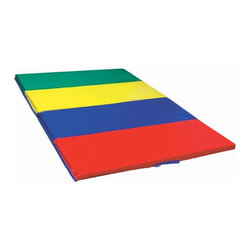 "ECR4Kids - 4' x 6' Tumbling Mat - This heavy-duty, 4-panel vinyl mat has convenient handles and velcro extensions for attaching additional mats. It can be folded easily for storage. Features: -Made of dense 2'' thick polyurethane foam.-Washable.-Comes in primary colors.-Collection: Active Play.-Distressed: No.-Mat Material: Foam.-Number of Items Included: 1.-Non Toxic: Yes.-Water Resistant: No.-Scratch Resistant: No.-Stain Resistant: Yes.-Odor Resistant: No.-Slip Resistant Surface: No.-Anti-bacterial Surface: Yes.-Organic: No.-Cushioned: Yes.-Sensory Stimulation: No.-Textured: No.-Interlocking Tiles: No.-Removable Pieces: No.-Hanging Toys Included: No.-Cover Included: No.-Handle: Yes.-Folding: Yes.-Convert to Storage: No.-Carry Bag Included: No.-Reversible: No.-Casters Included: No.-Battery Operated: No.-Musical: No.-Wall Attachment: No.-Age Recommended: Ages 3+.-Gender: Neutral.-Machine Washable: No.-Outdoor Use: No.-Commercial Use: No.-Recycled Content: No.Specifications: -12 gauge vinyl.-Greenguard Certified: No.-CPSIA or CPSC Compliant: No.Dimensions: -Overall Height - Top to Bottom: 2"".-Overall Width - Side to Side: 48"".-Overall Depth - Front to Back: 72"".-Mat Thickness: 2"".-Overall Product Weight: 10 lbs.Assembly: -Assembly Required: No.Warranty: -Product Warranty: 1-Year (Limited)."