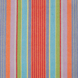 Garden Stripe Woven Cotton - This reversible and affordable 100-percent-cotton rug comes in a gorgeous color scheme.
