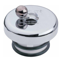 "Renovators Supply - Tub Stoppers Bright Chrome Ball Flip Top Tub Stopper | 19796 - Flip it stopper keeps the water in your tub! Fits drains 1 3/8"" - 1 5/8"". No tools needed. Chrome finish."