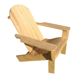 Adirondack Chair - Kit includes all wood pieces (cypress wood) cut to finished size and sanded smooth.  Kit also includes hardware and complete instructions for assembly.  All you need is a few simple tools to make this chair your own.