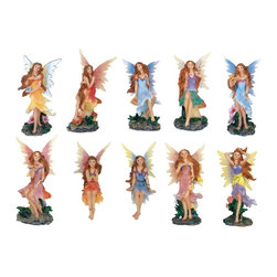 GSC - Fairy Set of 10 Collectible Pixie Figure Fantasy Nymph Sculpture Model - This gorgeous Fairy Set of 10 Collectible Pixie Figure Fantasy Nymph Sculpture Model has the finest details and highest quality you will find anywhere! Fairy Set of 10 Collectible Pixie Figure Fantasy Nymph Sculpture Model is truly remarkable.