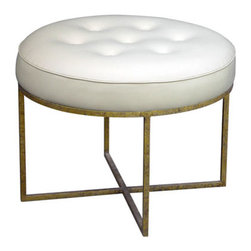 Jonathan Stool - I am completely obsessed with this gold finish on the bottom of this little stool. These are magazine-chic seats. I love them.
