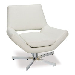 "Avenue Six - Yield 31"" Wide Chair in White Faux Leather - Avenue Six Yield 31"" Wide Chair in White Faux Leather; Foam-filled Back and Seat Cushions; Available in White Faux Leather (-W32), Lunar (-L2) and Black Faux Leather (-B18); Extra Wide Five-Star; Solid Steel; Chrome Finish Base with Low Center of Gravity for Maximum Stability; Greenguard: Yes; Weight Capacity: 200; Outer Materials: Faux Leather / Chrome; Assembly required: Yes; Dimensions: 31.5""W x 27.5""D x 30.5""H"