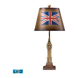 Dimond Lighting - Dimond Lighting Rushville Big Ben Accent Lamp - LED Offering Up To 800 Lumens - Big Ben Accent Lamp - LED Offering Up To 800 Lumens belongs to Rushville Collection by Dimond Lighting Lamp (1)