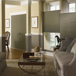 "Graber Slide-Vue 3/8"" Double Cell Blackout - Enhance a wide window or patio door with the captivating Graber Slide-Vue vertical Cellular Shades."
