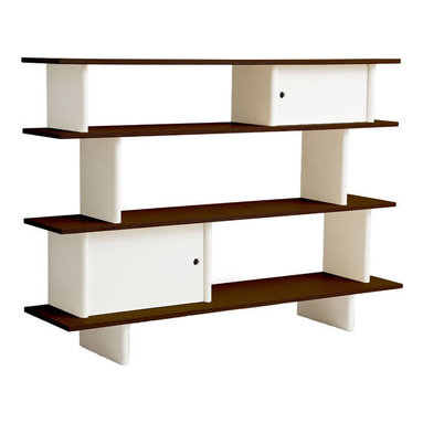 Oeuf - Oeuf Classic Walnut Mini Library - Beautiful addition from Oeuf NYC, the mini library carries the same consideration for functionality and high-end modern design that has made Oeuf popular. Conveniently offered in walnut stain as well as natural birch and designed for easy-access, the Oeuf Mini Library is the perfect place for all your child's books, toys and pictures. Oeuf, the New York based design company known for their modern take on nursery furniture, has been a pioneer of fair trade and eco friendly products from the start. With its furniture line produced in Europe, Oeuf has made it its mission to ensure environmentally sound products starting with the choice material to the manufacturing processes to the selection of recycled packaging. Going Green? Check out these features: