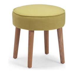 ZUO - Britton Stool - Mustard - A mod accent piece for the adventurous decorator, the Britton Stool is bold and simple. Four wood legs support an elegant piped cushion. Comes in sunkist, mustard or aqua.