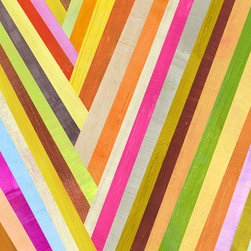 Check Mark Art Print by Two Ems - Colorful stripes are always a win.