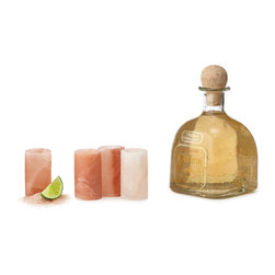 "Himalayan Salt Tequila Glasses - This is such a unique gift idea. Believe it or not, but these shot glasses are made of salt! If treated with care as described, they won't dissolve away before your eyes. What a neat way to say ""thanks"" in a way that's slightly different."